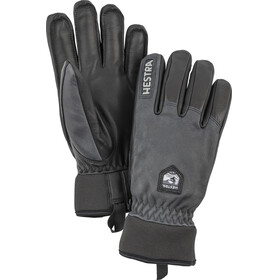 Hestra Army Leather Wool Terry Gloves Grey/Black